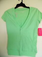 Sweet Tart  Green Zipper Up Shirt Jacket  Size Small