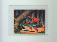 1940 SUPERMAN TRADING CARD # 70 Gum Inc RARE HIGH # Danger In The North Woods