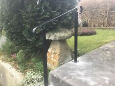 Wrought Iron Handrail Metal Stair Safety Rail With Two Posts