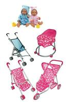 Baby Doll Stroller Girl Boy Pram Pushchair Role Play