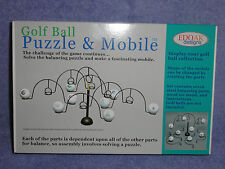 EDOAK DESIGNS GOLF BALL PUZZLE & MOBILE NEW DISPLAY MEN'S GIFT