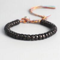 Gewinde aus Baumwolle Natürliche Kokosnuss Buddhistisches tibetisches Armband
