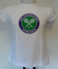 WIMBLEDON TENNIS  LADIES WHITE TEE SHIRT SIZE UK 14 BRAND NEW WITH TAGS