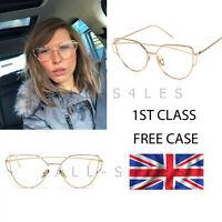 NEW Rose Gold Clear Lens Cat Eye Sunglasses Gentle Monster