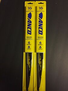 "2x 16"" ANCO 31-16 WINDSHIELD WIPER BLADE 31 SERIES 16"" BLACK METAL FRAME"