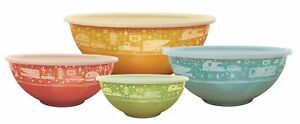 Camp Casual CC-006 Multicolor Set of 4 Nesting Bowls with lids