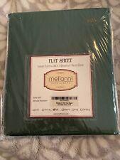 Mellanni Fine Linens Full Flat Sheet Emerald Green 1800 Brushed Microfiber