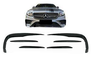 Bumper Splitters Fin For  Mercedes W213 S213 C238 A238 Sport Line E53 16-20 Blac