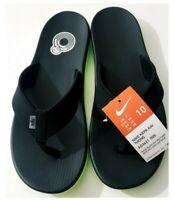 Nike Mens Kepa Kai Thong Sandals Slippers Flip Flops Black Volt Green Size 10