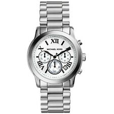 MICHAEL KORS MK5928 Cooper Chronograph White Dial Stainless Steel Ladies Watch