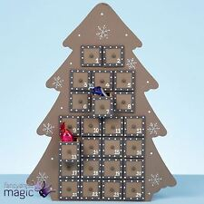 *37cm Large Wooden Christmas Tree Advent Calendar Nordic Countdown Decoration*