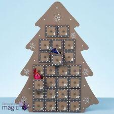 37cm Grande In Legno Albero Di Natale Avvento Calendario Nordico