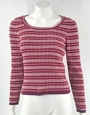 VTG 90s American Eagle Sweater Small Red White Striped Ribbed Pullover Womens