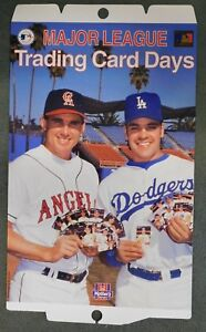 Mother's Cookies Baseball Cards Store Display Poster  Tim Salmon & Mike Piazza