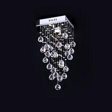 Dainty Stylish 1 Light Flush Mount In Crystal Deco Elegant Fixture Ceiling Light