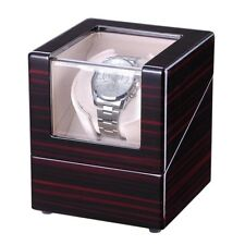 Single Automatic Watch Winder Wood Display Case Storage Organizer Box Gift