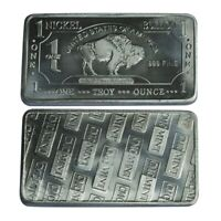 1 oz One Troy Ounce American Buffalo .999 Pure Nickel Bullion Bar Ni Element