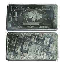 1 oz One Troy Ounce American Buffalo .999 Pure Nickel Bullion Bar Ni Element