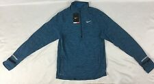 Nike Men Thermal Jacket 1/4 Zip Dri-Fit 852330 Blue Size L