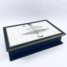 Vtg 50s Atomic Googie Design Mid Century Modern Box AAIA L.A. CA Document Desk