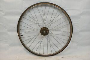 """Araya 27"""" Rear Road Bike Wheel Suzue Hub OLW100 17mm 36S AV Silver USA Charity!!"""