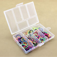 Large Clear Plastic 6 Slots Earrings Jewelry Storage Box Case Bead Organizer HOT