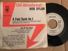 7'bob Dylan > A Fool Such As I/Lily of the West < PROMO GERMANY