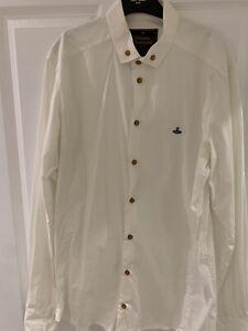 mens vivienne westwood white shirt large