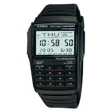 CASIO Multi-Lingual DATA BANK Calculator Digital Black Vintage Watch DBC-32-1A