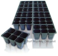 Seedling Starter Trays: 10 Horticulture Flats +5 Labels, 720 Cells, Medium Size