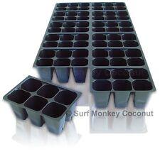 Seedling Starter Trays: 10 Horticulture Flats +5 LABELS, 720 Cells, Medium Size