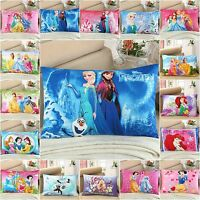 Disney Princess Two Pillow Cases 100% Cotton Standard Queen Size Pillow Covers