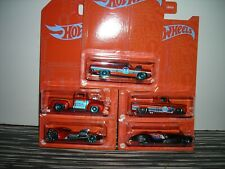 HOT WHEELS BLUE AND ORANGE 5 VEHCILE SET NEW FOR 2021 VEHICLES MINT IN BLISTER