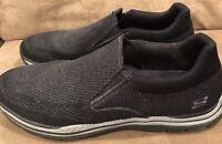 Skechers Relaxed Fit Men's Slip On Loafers 11.5 Gray Memory Foam Shoes Slip On