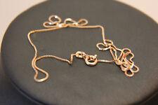 Zarte Venezianerkette Rotgold 585 14k ECHT GOLDKETTE 45cm Taufe NEUWERTIG