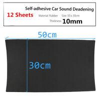 12pcs Sound Absorber 10mm Acoustic Foam Car Deadening Proofing Mat 50cm x 30cm