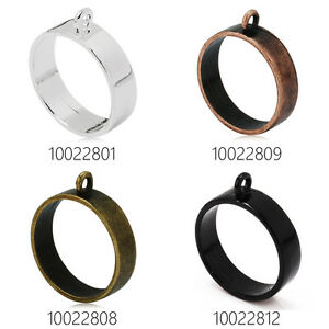 10pcs 25mm Round Open Back Bezel Pendant for Pressed Flower Jewelry