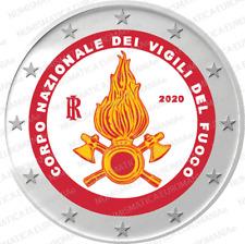 2 EURO ITALIA 2020 - VIGILI DEL FUOCO FDC COLORATO - SUBITO DISPONIBILE!!!