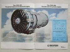 11/1977 PUB PRATT & WHITNEY JT8D DASH 209 ENGINE MCDONNELL DOUGLAS YC-15 AD