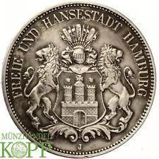 F65) j.62 hamburgo 5 mark 1876 J-Reich moneda de plata ciudad hanseática libre