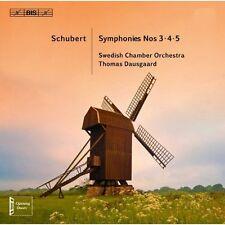 Schubert symphonies 3 à 5-Dausgaard, swedish Chamber Orchestra sacd