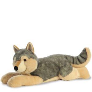 "TheMogan Jumbo-Sized Laying Big Wolf Dog Soft Plush Stuffed Animal Toy 27"""