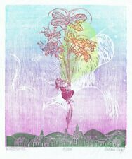 """Windspeil""  Limited Edition Wood and Linoleum block print by Helen Siegl"
