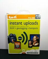 New Sealed EYE-FI  Pro  X2  8GB + Wi-Fi  Class 6  SDHC MEMORY CARD w Geotagging