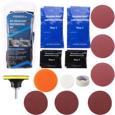 Headlamp Lens Cleaning Restoration Car Motorcycle Headlight Polish Cleaner Kit.