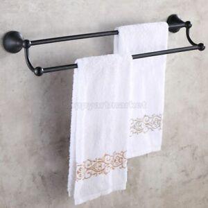 Oil Rubbed Bronze Towel Rail Holder Bathroom Wall Mounted Double Towel Rails Bar