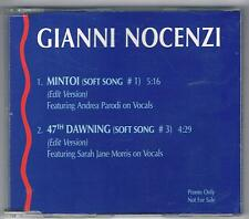 GIANNI NOCENZI NEW TROLLS SOFT SONGS MINTOI PROMO CD SINGOLO SINGLE cds