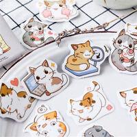 45Pcs/Set Cute Cat Paper Stickers Diary Decoration Scrapbooking Stickers Decor