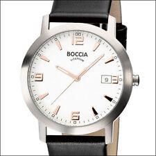 Boccia Quartz Dress Watch with Light Weight 38mm Titanium Case #3544-02