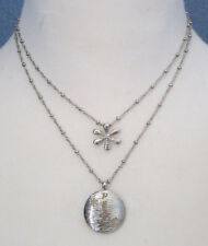 Lia Sophia Jewelry Silver Peace Necklace